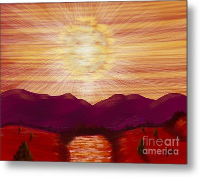 Red River Glory Metal Print by Judy Via-Wolff