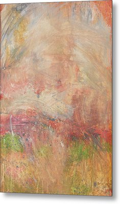 Metal Print featuring the painting Red Road In Sunlight by John Fish