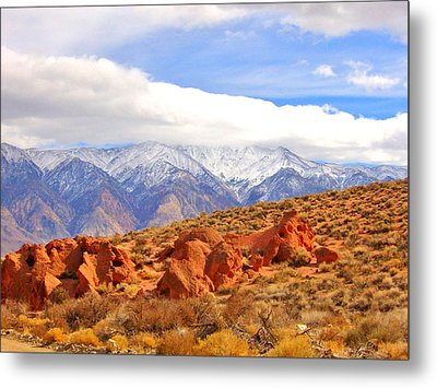 Red Rock And Desert Metal Print