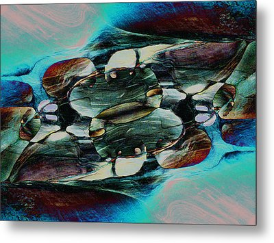 Red Rock Canyon Blues 2 Metal Print by Stephanie Grant