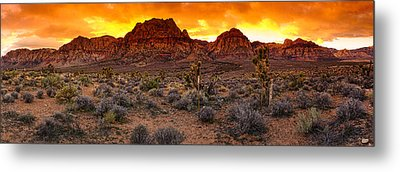 Red Rock Canyon Las Vegas Nevada Fenced Wonder Metal Print by Silvio Ligutti