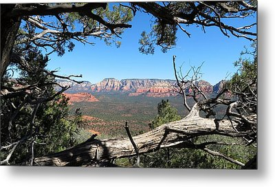 Red Rock Country From Doe Mountain Metal Print by Charles Ables