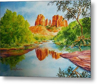 Red Rock Crossing  Metal Print by Gracia  Molloy