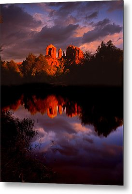 Red Rock Crossing Sedona Metal Print by Ray Mathis