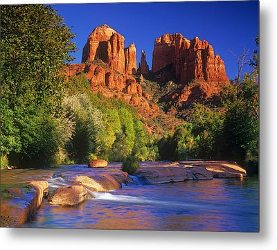 Red Rock Crossing Metal Print by Timm Chapman