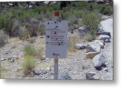 Red Rock Trails Metal Print