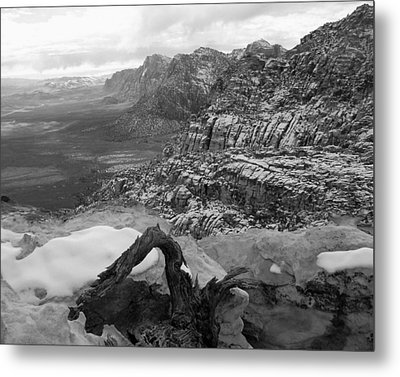 Metal Print featuring the photograph Red Rock Winter by Alan Socolik