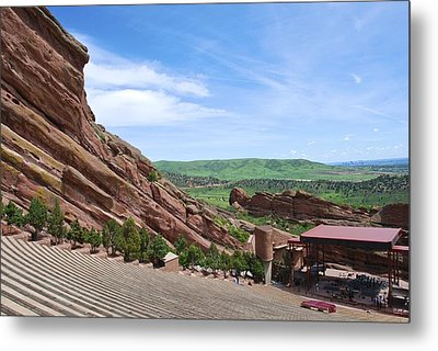Red Rocks Metal Print by Charlie and Norma Brock