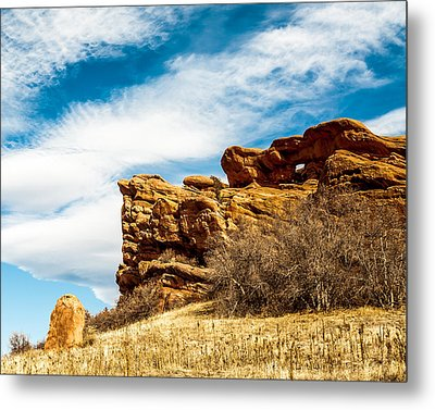 Red Rocks Dragon Metal Print