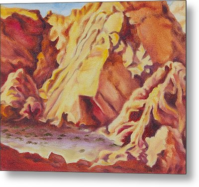 Metal Print featuring the painting Red Rocks by Michele Myers