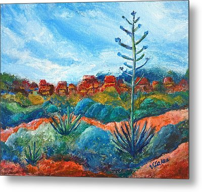 Red Rocks Metal Print by Victoria Lakes