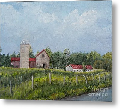 Red Roof Barns Metal Print