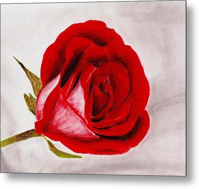 Red Rose Metal Print by Anastasiya Malakhova