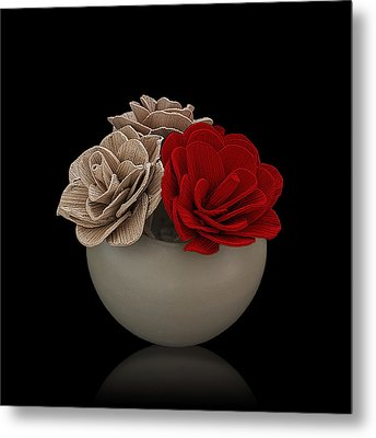 Red Rose Shimmer Metal Print by Rob Guiver