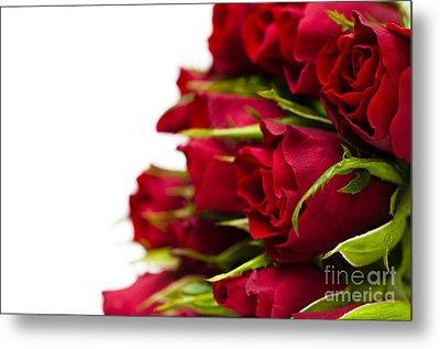 Red Roses Metal Print by Anne Gilbert