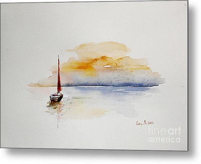 Red Sail Metal Print