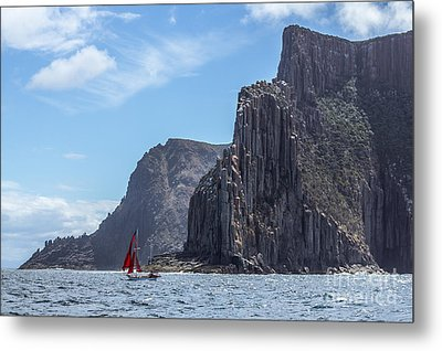 Metal Print featuring the photograph Red Sails by Jola Martysz