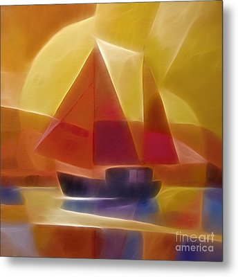 Red Sails Metal Print