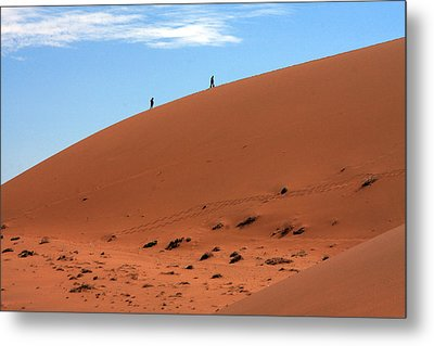 Red Sand Dunes Metal Print by Aidan Moran