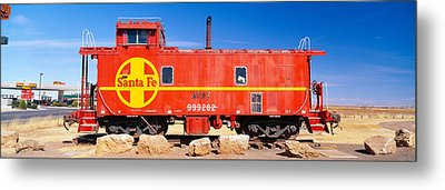 Red Santa Fe Caboose, Arizona Metal Print by Panoramic Images