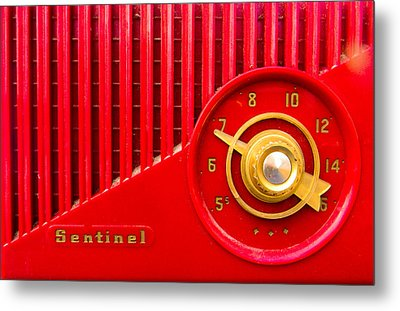 Red Sentinel Metal Print by Christy Usilton