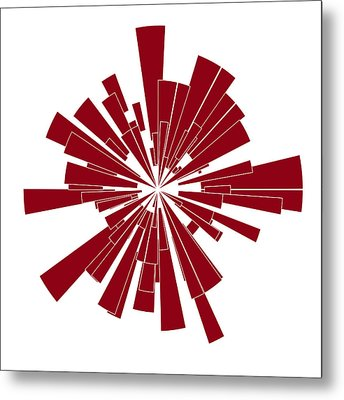 Red Shape Metal Print by Frank Tschakert