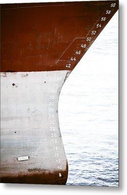 Red Ship Metal Print