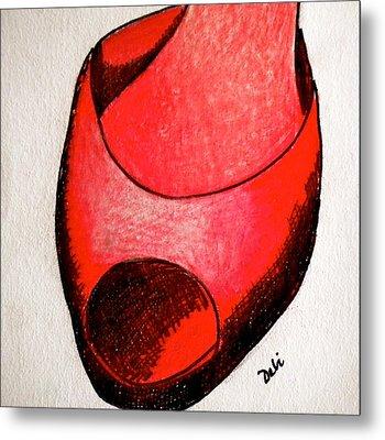Red Shoe Metal Print by Debi Starr