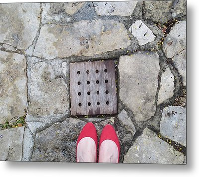Red Shoes Metal Print by Gia Marie Houck