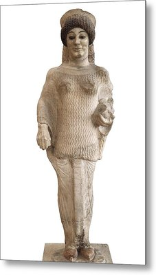 Red Shoes Kore. Ca.  510 Bc. Archaic Metal Print