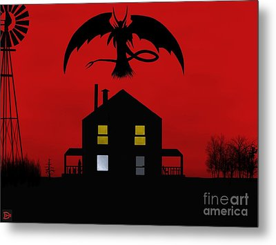 Red Sky At Night... Metal Print