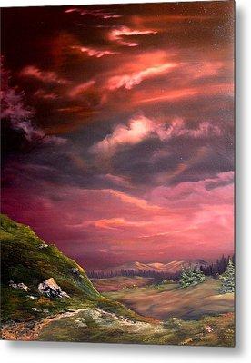 Red Sky At Night Metal Print by Jean Walker