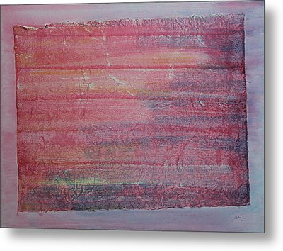 Red Sky At Night Sailors Delight Metal Print by Asha Carolyn Young