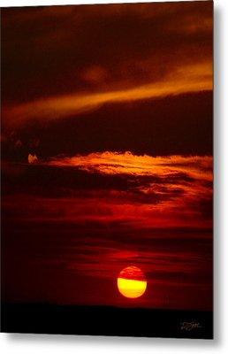 Red Sky At Night Vertical Metal Print