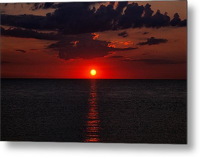 Red Sky At Sunrise 1 Metal Print