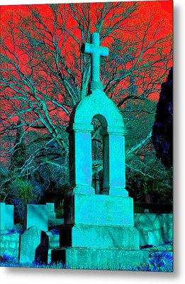 Metal Print featuring the photograph Red Sky by Cleaster Cotton