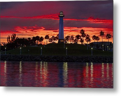 Red Skys At Night Denise Dube Photography Metal Print by Denise Dube