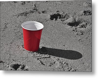 Red Solo Cup Metal Print