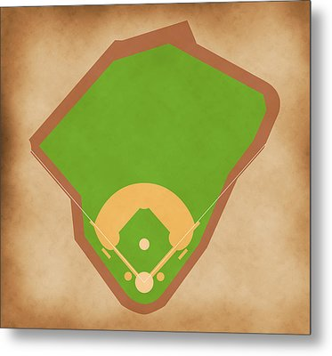 Red Sox Field Metal Print by Carl Scallop