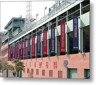 Red Sox Heroes Metal Print by Sue  Thomson