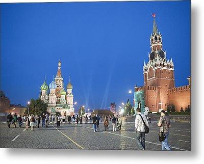 Red Square Metal Print