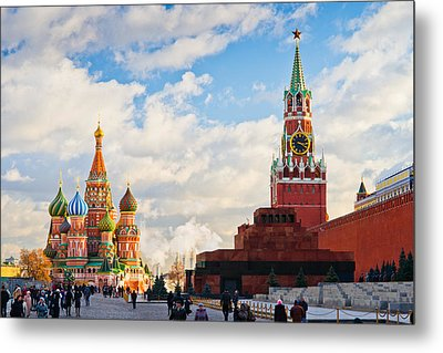 Red Square Of Moscow - Featured 3 Metal Print by Alexander Senin