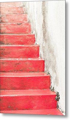 Red Stone Steps Metal Print by Tom Gowanlock