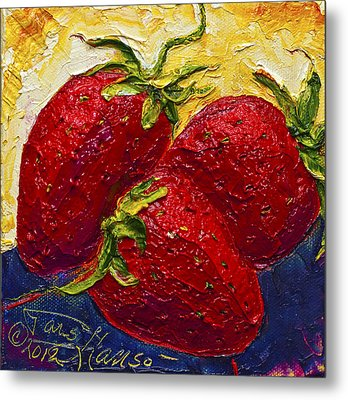 Red Strawberries II Metal Print by Paris Wyatt Llanso