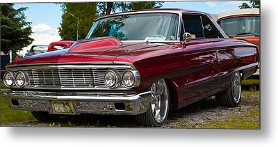 Metal Print featuring the photograph Red Street Car Rod by Mick Flynn