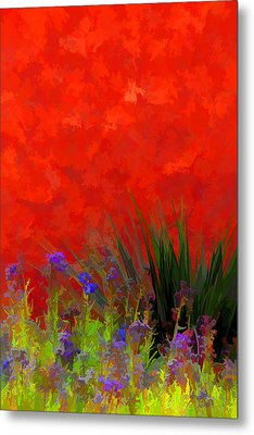 Red Stucco Wall Metal Print by Brian Davis