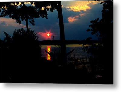 Metal Print featuring the photograph Red Sun by James C Thomas