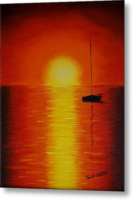 Red Sunset 1 Metal Print by Tina Stoffel