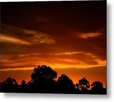Red Sunset Metal Print by Mark Blauhoefer