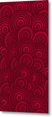 Red Swirls Metal Print by Frank Tschakert
